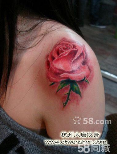 玫瑰花纹身