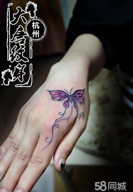 蝴蝶纹身 虎口纹身 纹身图案