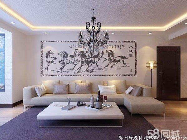硅藻泥沙发背景墙效果图