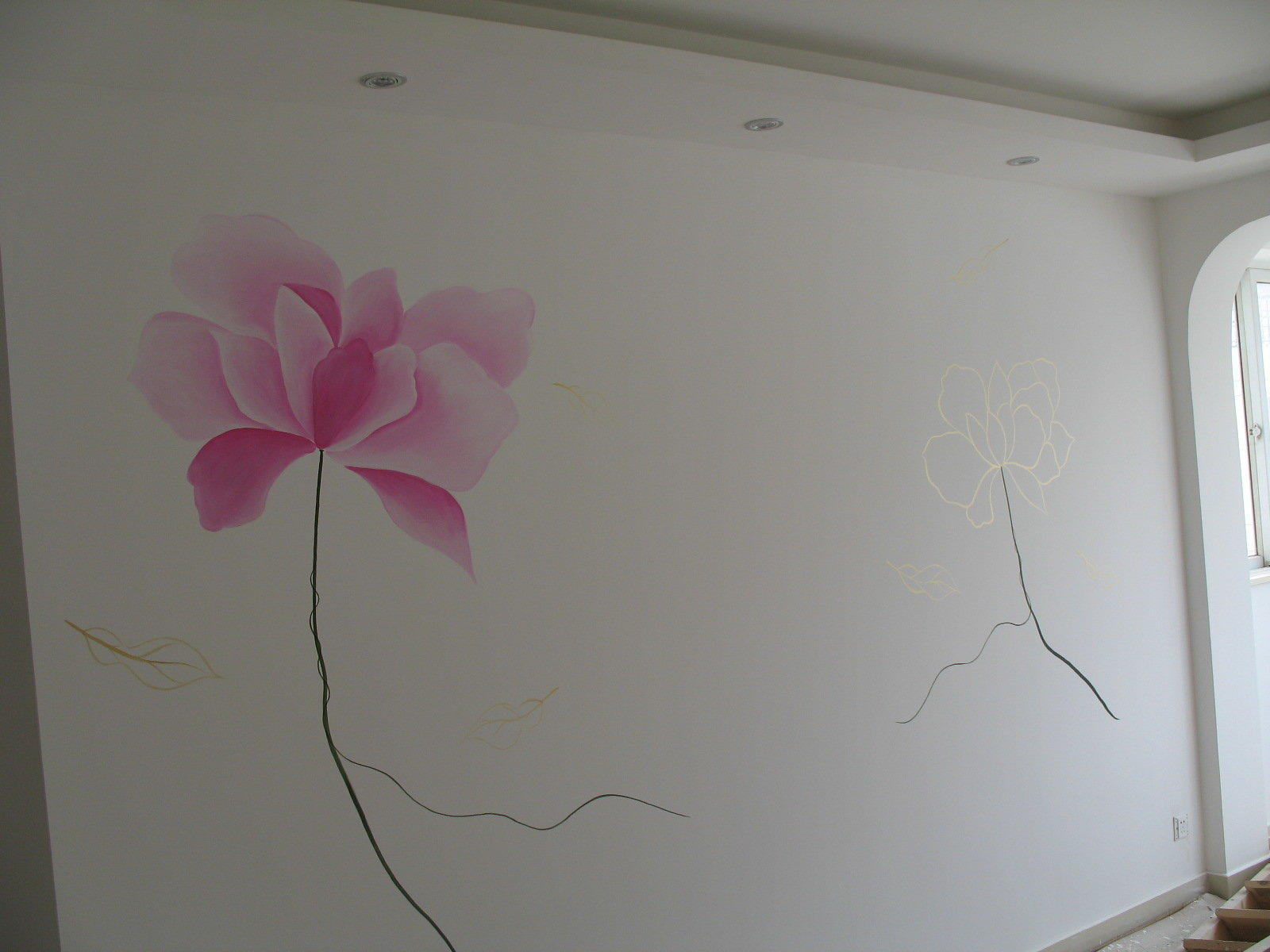 电视背景墙手绘