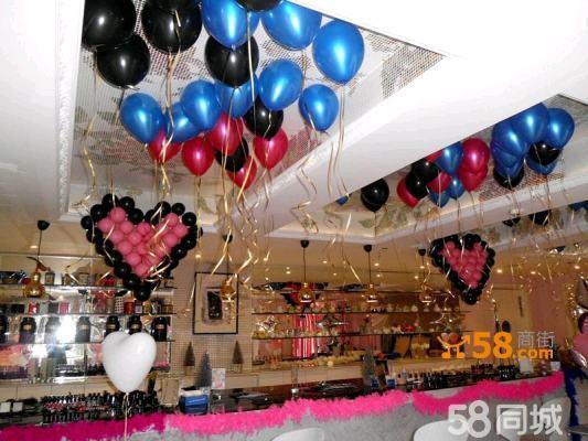 北京进口氦气球装饰 气球墙制作 气球链 气球柱
