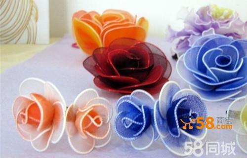 玫瑰头花-纯手工制作