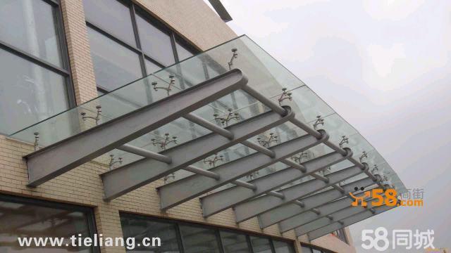 玻璃雨棚,钢结构玻璃雨蓬,玻璃雨篷效果图,玻璃雨篷