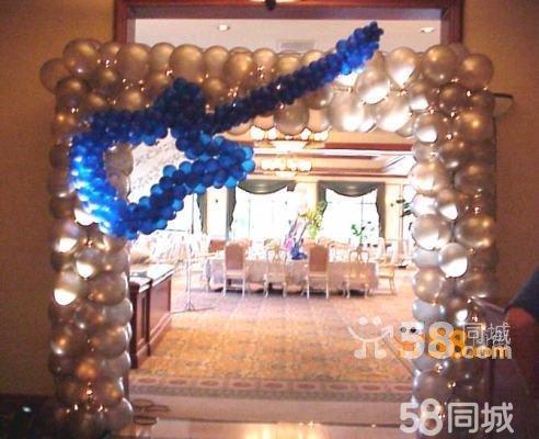 婚礼氦气球场地布置,求婚氦气球速递