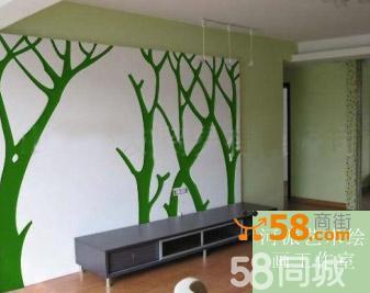 手绘墙手画墙手画背景墙电视墙沙发墙