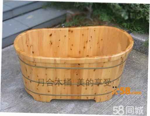古代木桶沐浴图